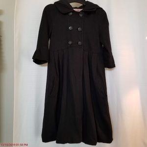 Juicy Couture Black Bubble Hem Pea Coat P